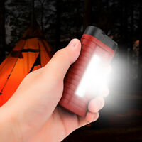 Portable COB LED Work Light Flashlight Torch Lamp with Clip for Camping 3*AAA
