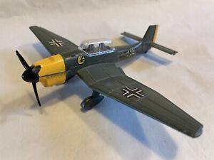 VINTAGE DIECAST DINKY TOYS JUNKERS JU-87 STUKA WW2 FIGHTER DIVE BOMBER PLANE