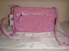 Coach Pink Shearling Ryder Pochette Small Crossbody Handbag #36490 MSRP $195.00