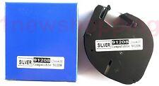 2PK  compatible Dymo LetraTag LT 91208 PLASTIC SILVER LABELS Tapes 12MM x 4M