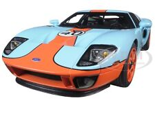 2004 FORD GT GULF LIVERY #40 BLUE WITH ORANGE 1/18 DIECAST MODEL AUTOART 80513