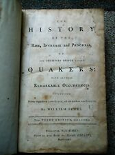 1774 HISTORY OF QUAKERS William Sewel 3rd edition corrected addenda index