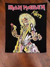 VTG Iron Maiden Killers Backpatch Orig 80's Metal Eddie Motörhead Judas Priest