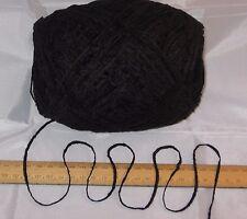 100g ball Black 4 ply British Acrylic Chenille knitting wool yarn SOFT