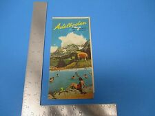 International Travel Brochure, Adelboden Switzerland List of Hotels Sports S876
