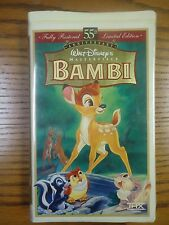 "Walt Disney's Masterpiece ""Bambi"" VHS #653"