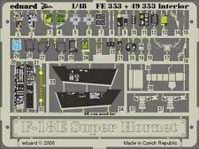 Eduard FE353 Etched Aircraft Detailling Set 1:48 Boeing F/A-18E Super Hornet int