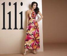 Vestido largo de mujer de color principal multicolor de poliéster