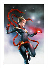 Marvel Fine Art Adi Granov Marvelous (Captain Marvel) Giclee on Canvas