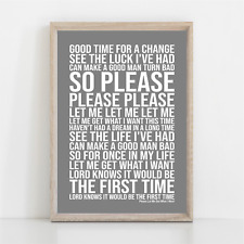 More details for the smiths please let me get what i want song lyrics poster print wall art