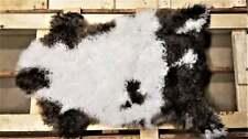 "Bio-Friendly Sheepskin Rug, Grown by Nature, Brown Cream Long Wool, 2'2x3'0"""