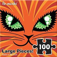 Orange Cat 100 Piece Puzzle by Re-marks Monster Series