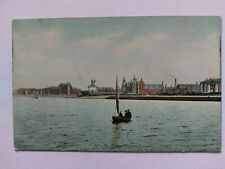 Southport Merseyside Vintage colour Postcard c1911 North Lake printed in Saxony