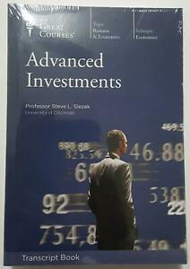 Great Courses - Advanced Investments Transcript Book 24 lectures by Slezak NEW