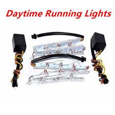 Car Switchback Dual Color LED Tear Eye Lamp Strip DRL Headlight Turn Signal Lamp