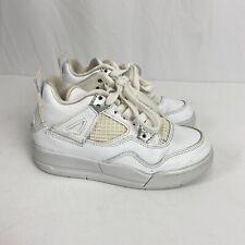Nike Air Jordan IV 4 Retro White 308499-100 Sz 11 Boys Kids Toddler