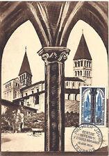 CARTE MAXIMUM 1er JOUR - N° 986 - TOURNUS - ANNEE 1954