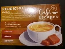 Keirig Hot Cafe Escapes Chai Latte 12 Ct Cups.Exp. 03/20