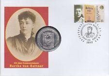 BRD Numisbrief 10 EURO Bertha von Suttner, Sondermünze
