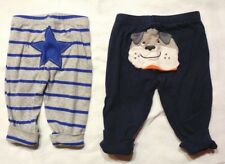 Carter's Lot of 2 Pair Newborn Elastic Waist Pants Size 0-3 Months