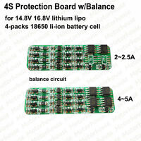 4S 2A~5A Protection PCB Board For 18650 Li-ion Lithium Battery BMS Cell Balance