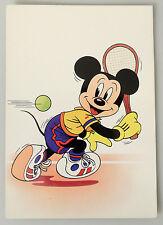 (PRL) 1985 WALT DISNEY TOPOLINO TENNIS MICKEY MOUSE CARTOLINA CARD COLLECTION
