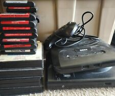 Sega Genesis Lot 1 and 2 With 20 Video Games and Controller - Tested Working