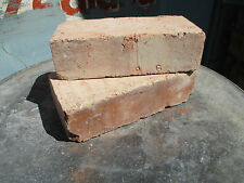 "RED reclaimed imperial BRICKS SUFFOLK wirecut 9"" long x4 1/4""x 2 3/4"" thick"