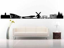 Wall Room Decor Art Vinyl Sticker Mural Decal City Skyline Amsterdam FI811
