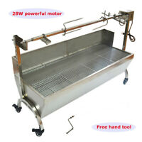 "Large Size 46""  Stainless Steel BBQ,Pig,Lamb,Goat,Chicken Spit Roaster IN U.S"