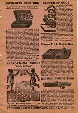 1927 Print Ad of The Performing Coons Sambo & Dinah Black Americana, Card Box