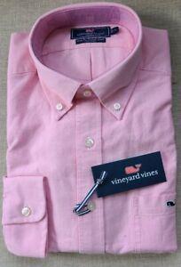 VINEYARD VINES Slim Fit Tucker Shirt Oxford Slim Tucker PINK SQUID L