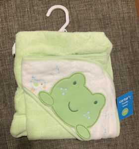 Carters Retired Design FROG One Size Hoodie Towel NEW
