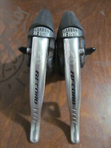 Vintage Campagnolo Record Carbon 8 Speed Levers Brakes-Derailleurs Used Perfect