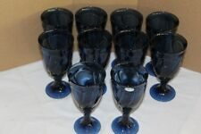 Noritake Blue Sweet Swirl Iced Tea Tumblers Set of 10 Excellent Pre-Owned