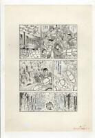 z346 Ore ga seishun Original Japanese Manga Comic Art Page Post war Story