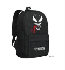 Marvel Comics Spider Man Villain VENOM Black Backpack Student Unisex Bag