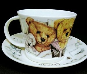 """Monsters under the Bed"" Teddy Bears 2003 Roy Kirkman, Oversize Tea Cup &Saucer"