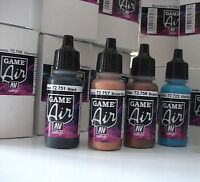 NEW COLOURS VALLEJO GAME AIR ACRYLIC AIRBRUSH PAINTS CHOOSE ANY 4 x 17ml BOTTLES