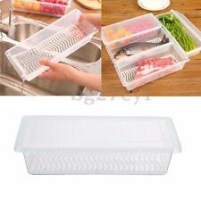 Kitchen Refrigerator Fresh Food Egg Case Storage Organizer Crisper Box Container