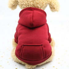 NEW Dog Sweater Pet Coat Jacket Hoodie Hooded Pocket Outwear Clothes Winter Soft