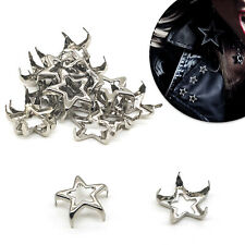12mm Hollow Nailhead Star Studs Punk Goth Spike Rivets Bags Jeans Leathercraft