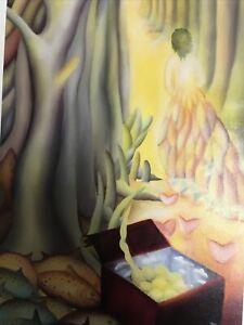 Wall Art Oil Painting Surrealist Fishes Women Desert Frida Kahlo Style Work
