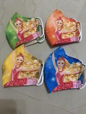 (2) Washable face mask Barbie Girls🔥kids Size 4yrs- 10yrs