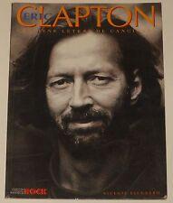 ERIC CLAPTON Libro Español 1994 Imagenes del Rock Vicente Escudero Cream book
