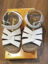 New Salt Water Sandals,original style 883, white leather sandals, tod. 9,NIB