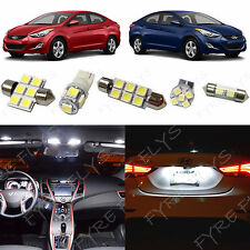 8x White LED light interior package kit for 2011-2016 Hyundai Elantra YE1W