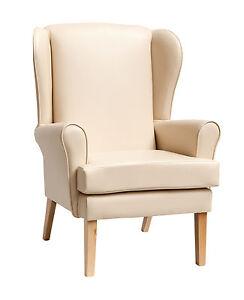 "Queen Anne Style High Seat Orthopaedic Chair in Manhattan Cream 21"" x 18"""