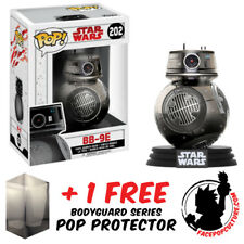 FUNKO POP VINYL STAR WARS EP 8 BB-9E CHROME EXCLUSIVE + FREE POP PROTECTOR