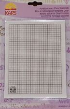 ACRYLIC BLOCK WITH GRID FOR MOUNTING CLEAR STAMPS - 1691